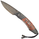 ​Spearpoint 'Sunset' Folding Knife with Apple Coral Inlay