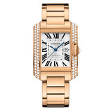 ​Tank Anglaise Large Rose Gold & Diamond (WT100003)