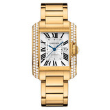 ​Tank Anglaise Large Yellow Gold & Diamond (WT100006)