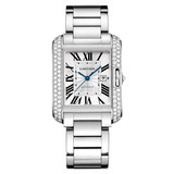 ​​Tank Anglaise Large White Gold & Diamond (WT100009)