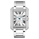 ​Tank Anglaise Extra Large White Gold & Diamond (WT100010)