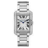​Tank Anglaise Medium White Gold & Diamond (WT100028)