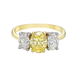 0.96 Carat Fancy Intense Yellow Diamond Ring