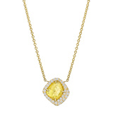 18k Gold & Yellow Diamond 'Slice' Disc Pendant