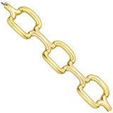 ​18k Yellow Gold Cushion Three-Link Bracelet