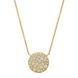 18k Yellow Gold & Diamond Circle Pendant