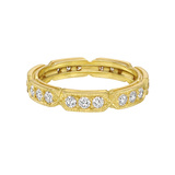 18k Yellow Gold & Diamond Eternity Band