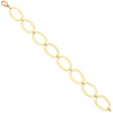 ​18k Yellow Gold Flat Oval Link Bracelet