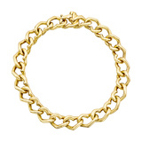 14k Yellow Gold Heart Link Bracelet
