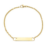 ​Engraveable ​18k Yellow Gold ID Bracelet