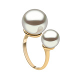 18k Gold & Double South Sea Pearl Ring
