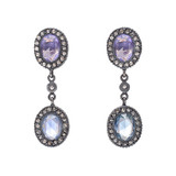 """Amalia"" Sapphire & Diamond Drop Earrings"