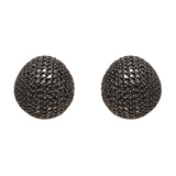 Black Diamond Dome Earrings