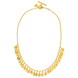 24k Gold Fringe Necklace
