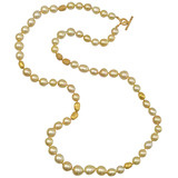 &quot;Roxanne&quot; Golden South Sea Pearl Necklace with Diamond
