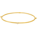 "24k Gold & Diamond ""Jane"" Stack Bangle"