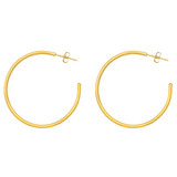 "Medium ""Jane"" 24k Gold Hoop Earrings"