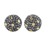"""Libra"" Cognac Diamond Stud Earrings"