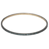 """Lilah"" Oxidized Gilver & Blue Diamond Bangle Bracelet"
