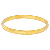 """Mica"" Hammered 24k Gold Bangle Bracelet"