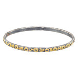 "Silver & 24k Gold ​""Mica"" Stack Bangle"