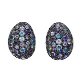 &quot;Roxanne&quot; Blue Mosaic Gem-Set Earrings