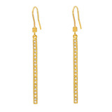 "Medium Diamond ""Stick"" Earrings"