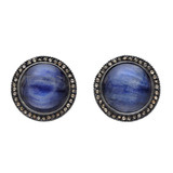 """Topkapi"" Blue Kyanite & Cognac Diamond Earrings"