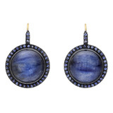 """Topkapi"" Blue Kyanite & Sapphire Drop Earrings"
