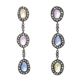"""Topkapi"" Sapphire & Diamond Long Drop Earrings"