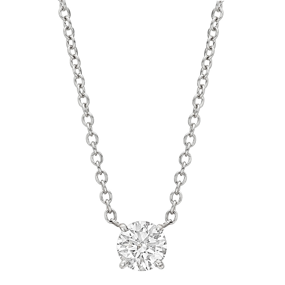 0.74 Carat Round Brilliant Diamond Solitaire Pendant