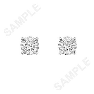 Round Brilliant Diamond Stud Earrings (0.84 ct tw)