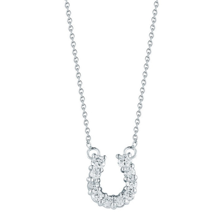 "Diamond ""Tiny Treasures"" Horseshoe Pendant"