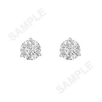 1.00tcw Round Brilliant Diamond Stud Earrings (F/SI2)