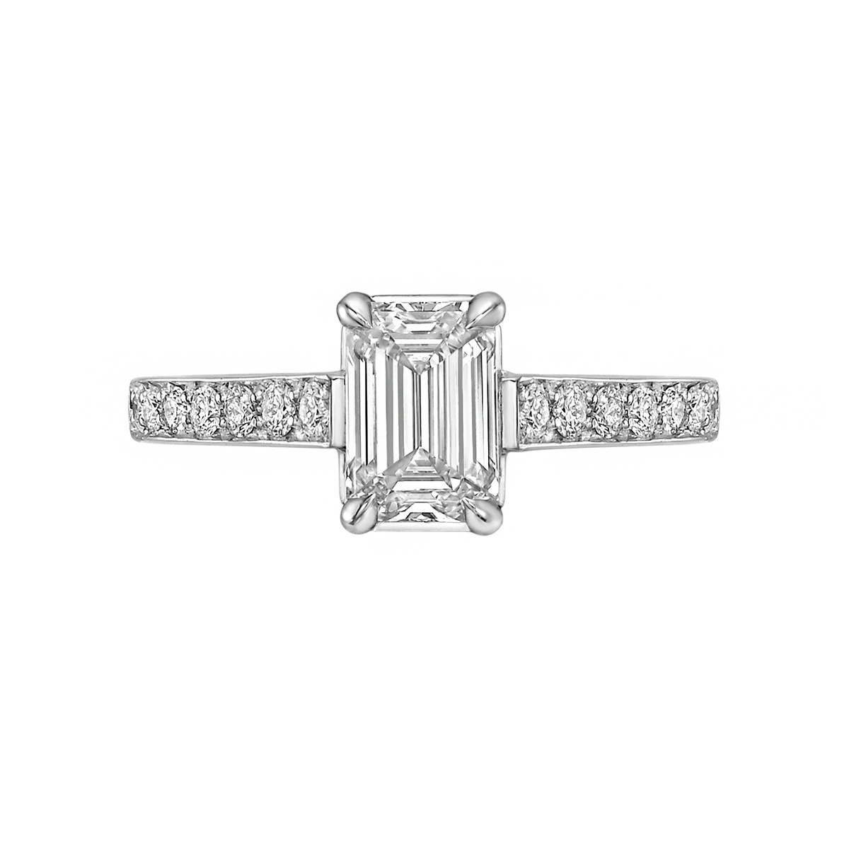 1.01ct Colorless Emerald-Cut Diamond Ring