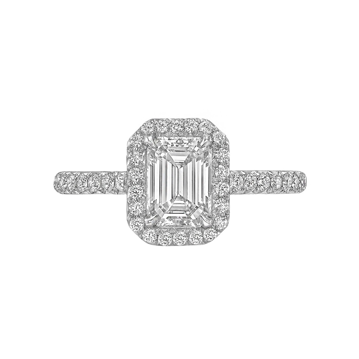 "1.01ct Emerald-Cut Diamond ""Oriana"" Ring"