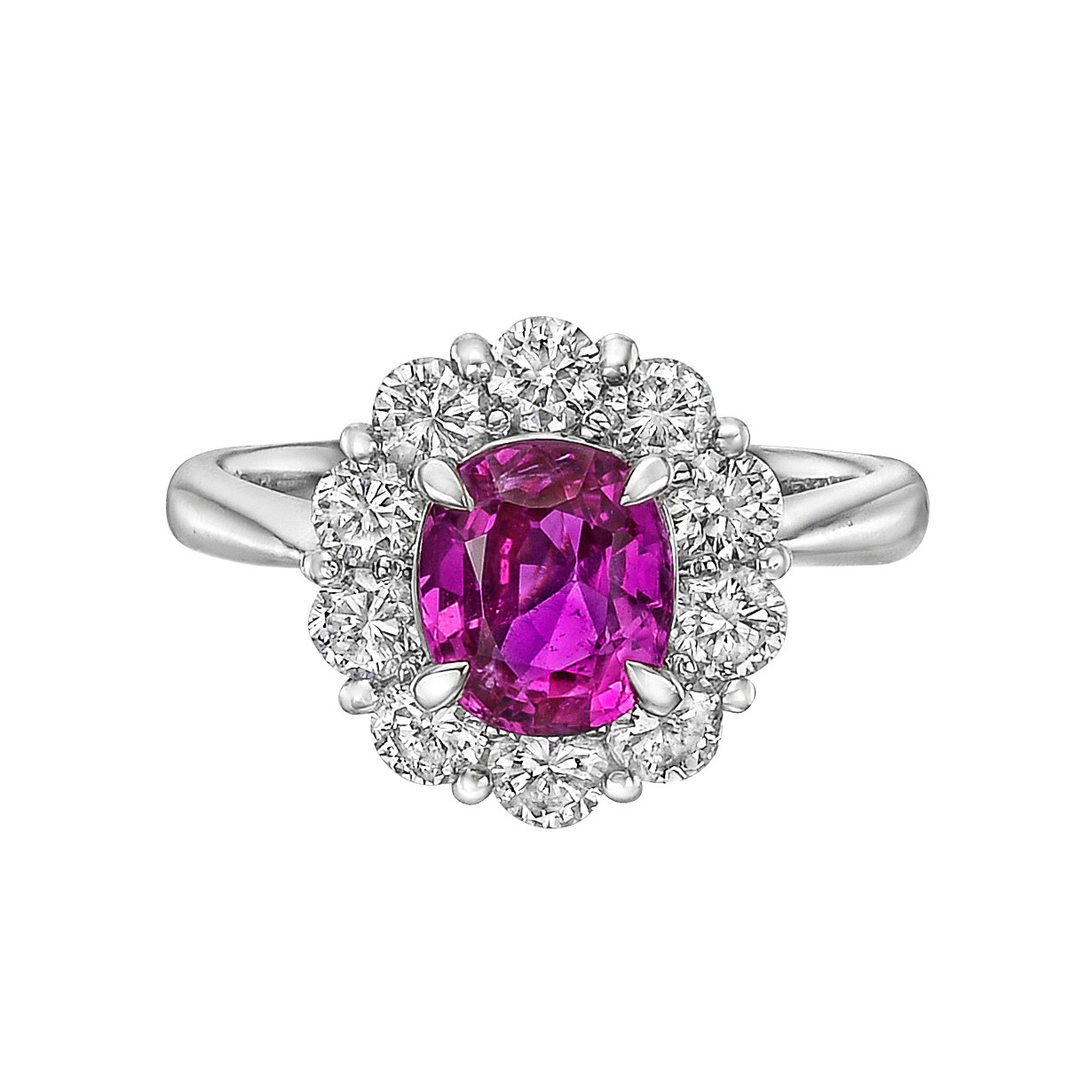 1.49ct No-Heat Purplish Red Ruby Ring