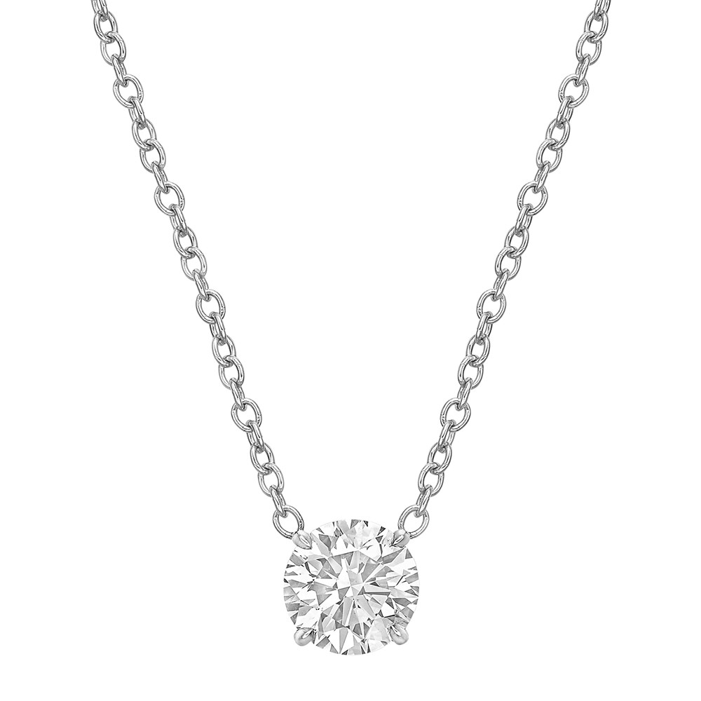 1.01 Carat Round Brilliant Diamond Solitaire Pendant