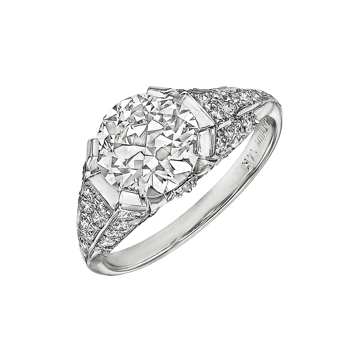 1.68ct Round Brilliant Diamond Ring (I/VVS2)