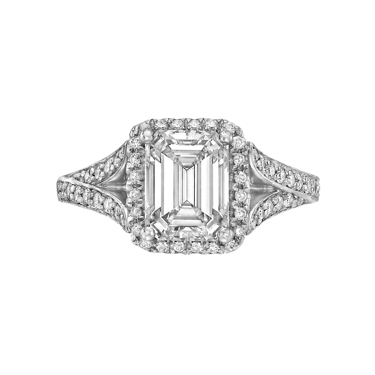 1.84 Carat Emerald-Cut Diamond Ring