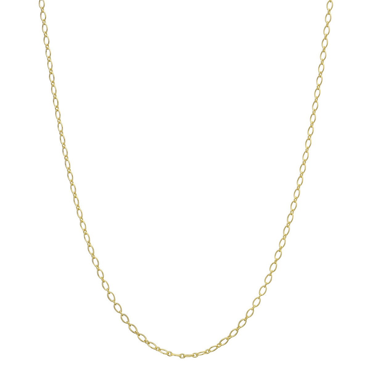"14k Yellow Gold Baroque Link Chain Necklace (18"")"