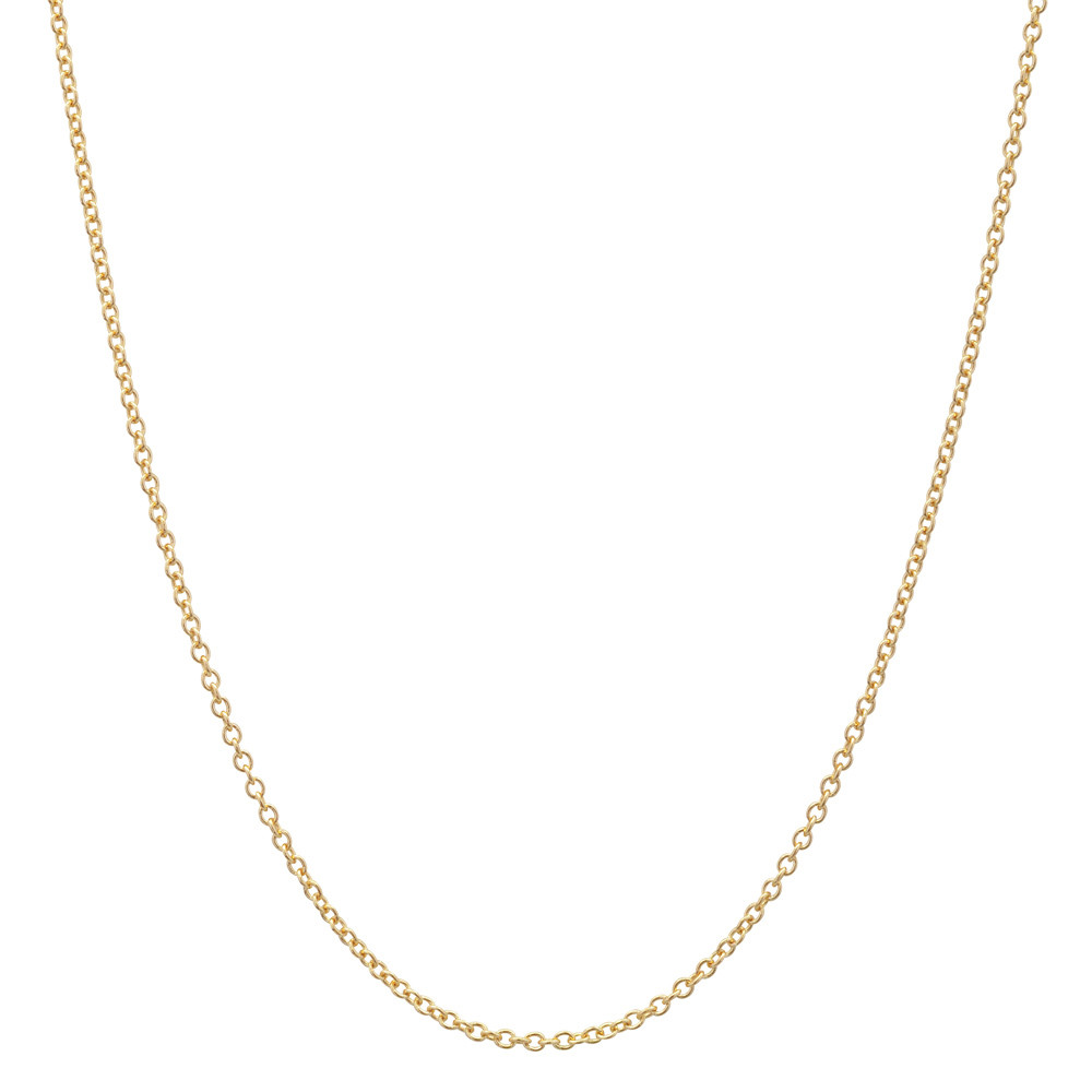 "14k Yellow Gold Thin Chain Necklace (16"")"