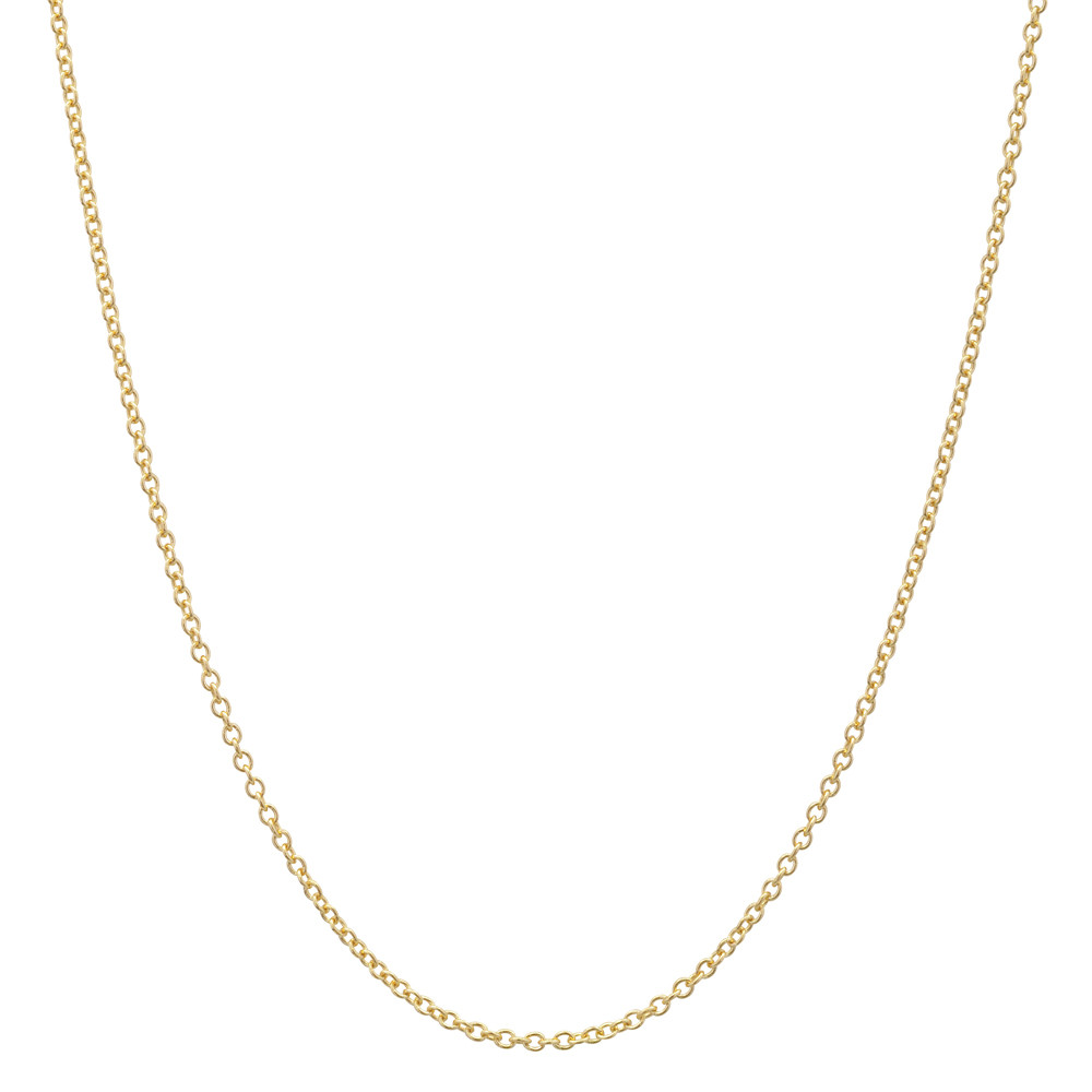 "14k Yellow Gold Thin Chain Necklace (20"")"