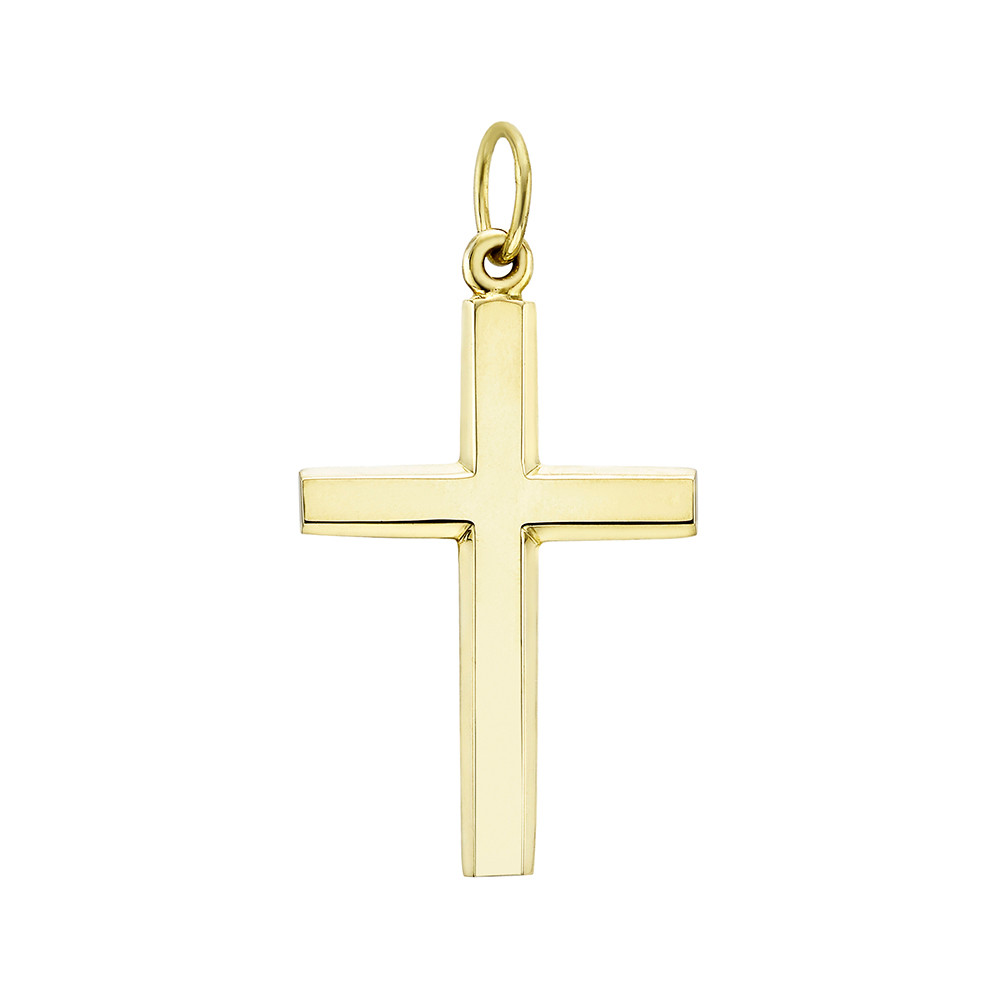 Large 14k Yellow Gold Cross Pendant