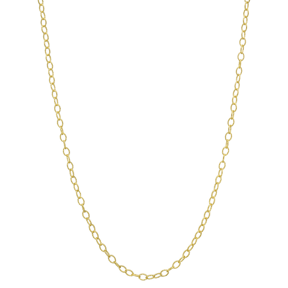 "14k Yellow Gold Twisted Round Link Chain Necklace (24"")"