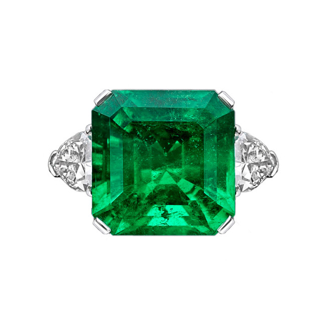 15.32 Carat Colombian Emerald & Diamond Ring
