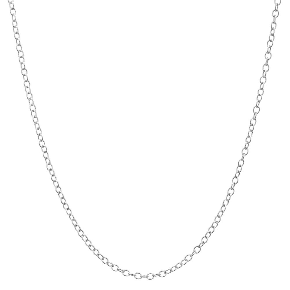 "18k White Gold Chain Necklace (24"")"
