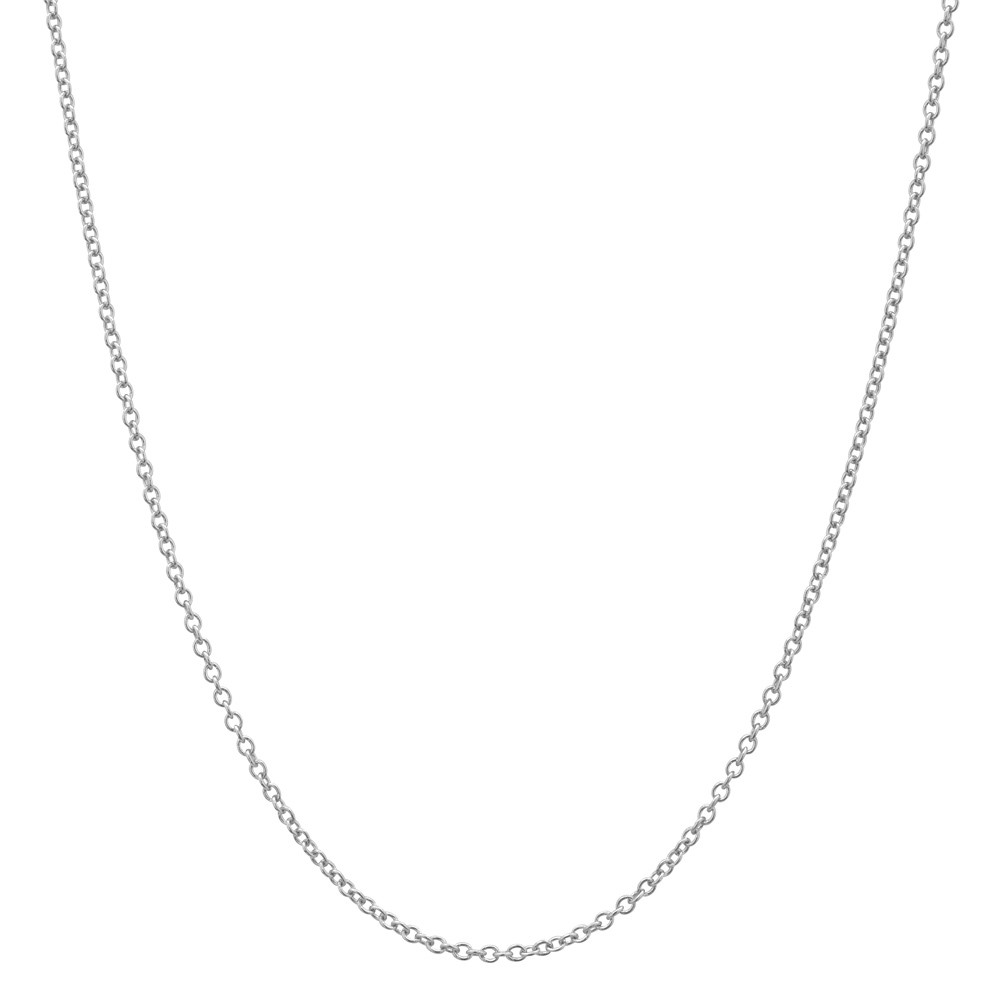 "18k White Gold Thin Chain Necklace (16"")"
