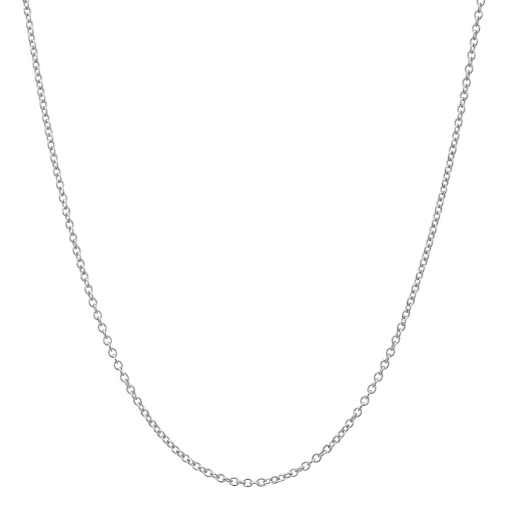 "18k White Gold Thin Chain Necklace (18"")"