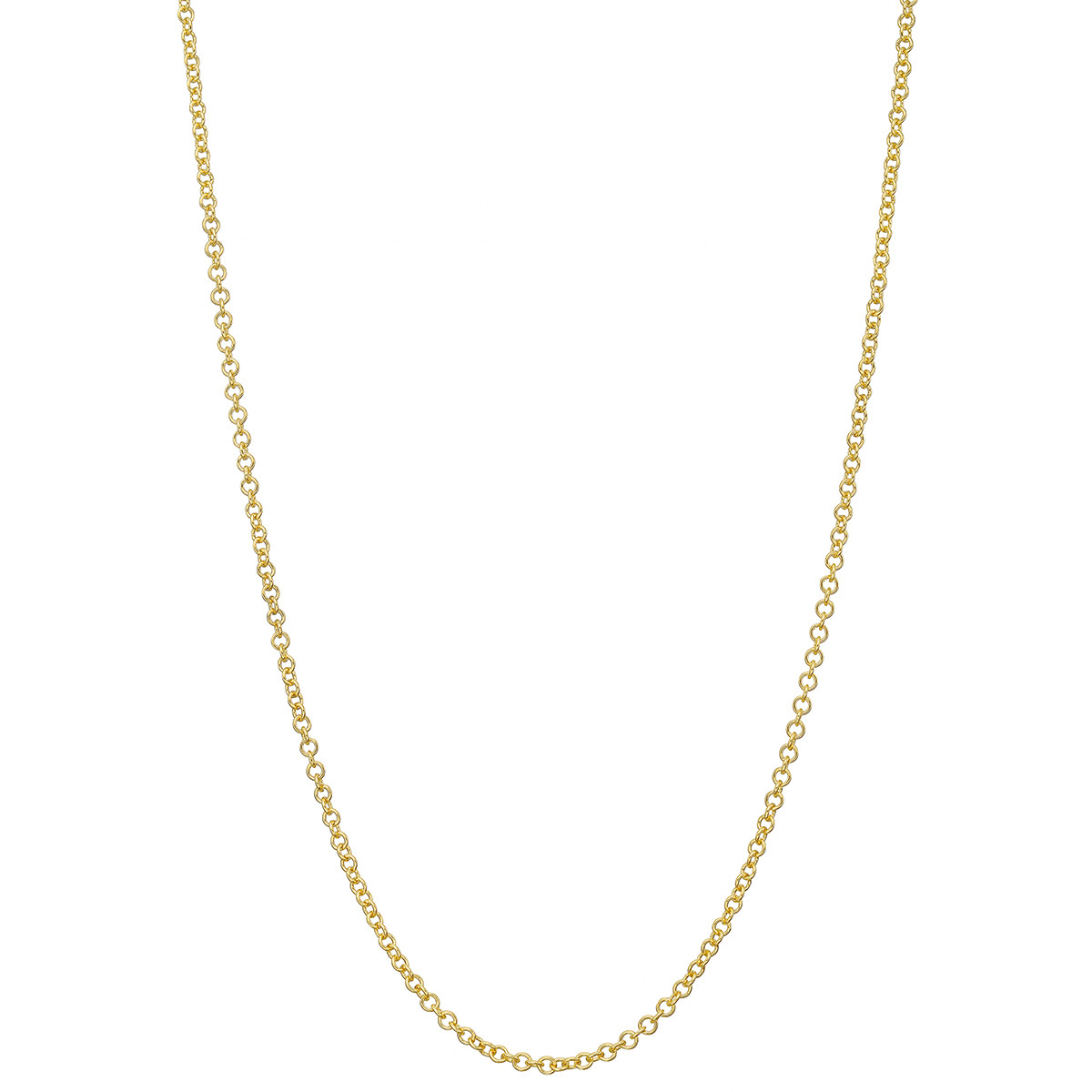 "18k Yellow Gold Round Link Chain Necklace (24"")"